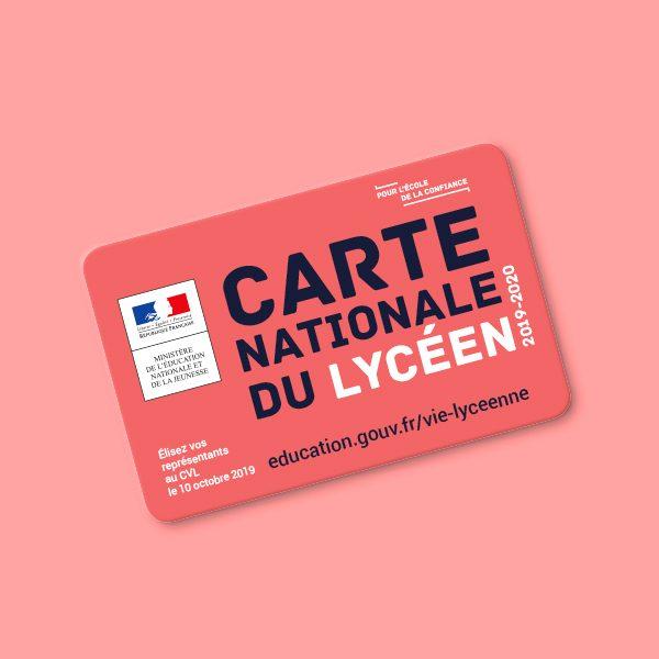 CARTE NATIONALE DU LYCÉEN