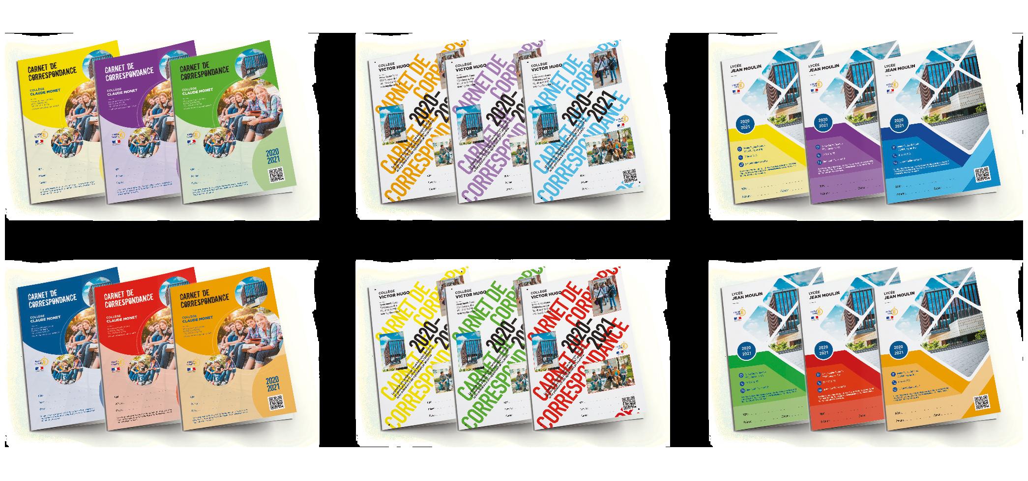 Choisissez la qualité et la couleur de votre carnet de correspondance