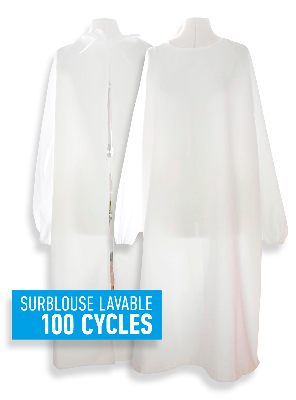 Surblouse lavable 100 cycles