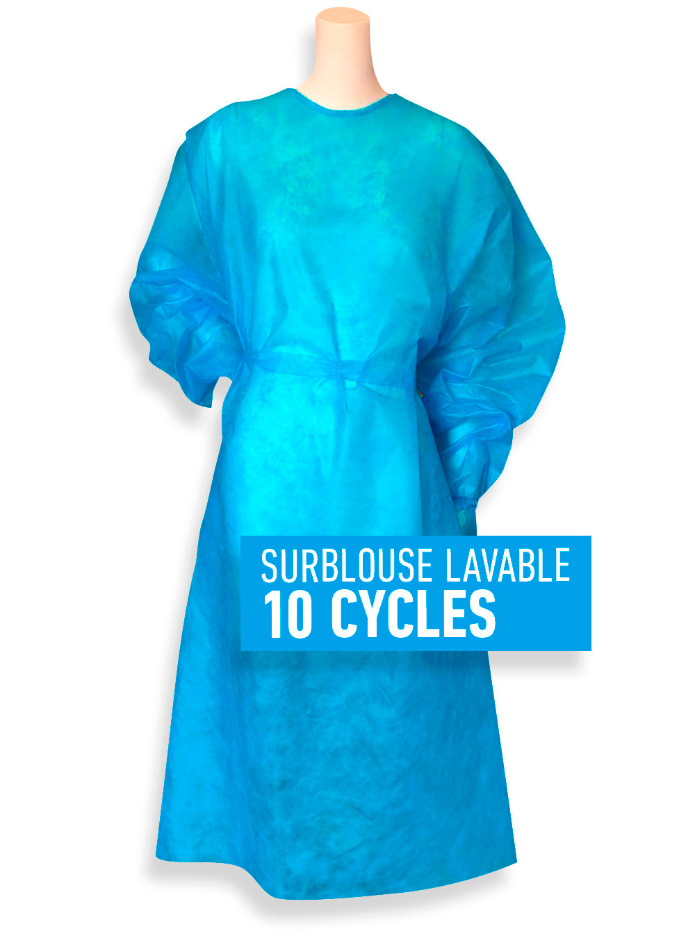 Surblouse lavable 10 cycles