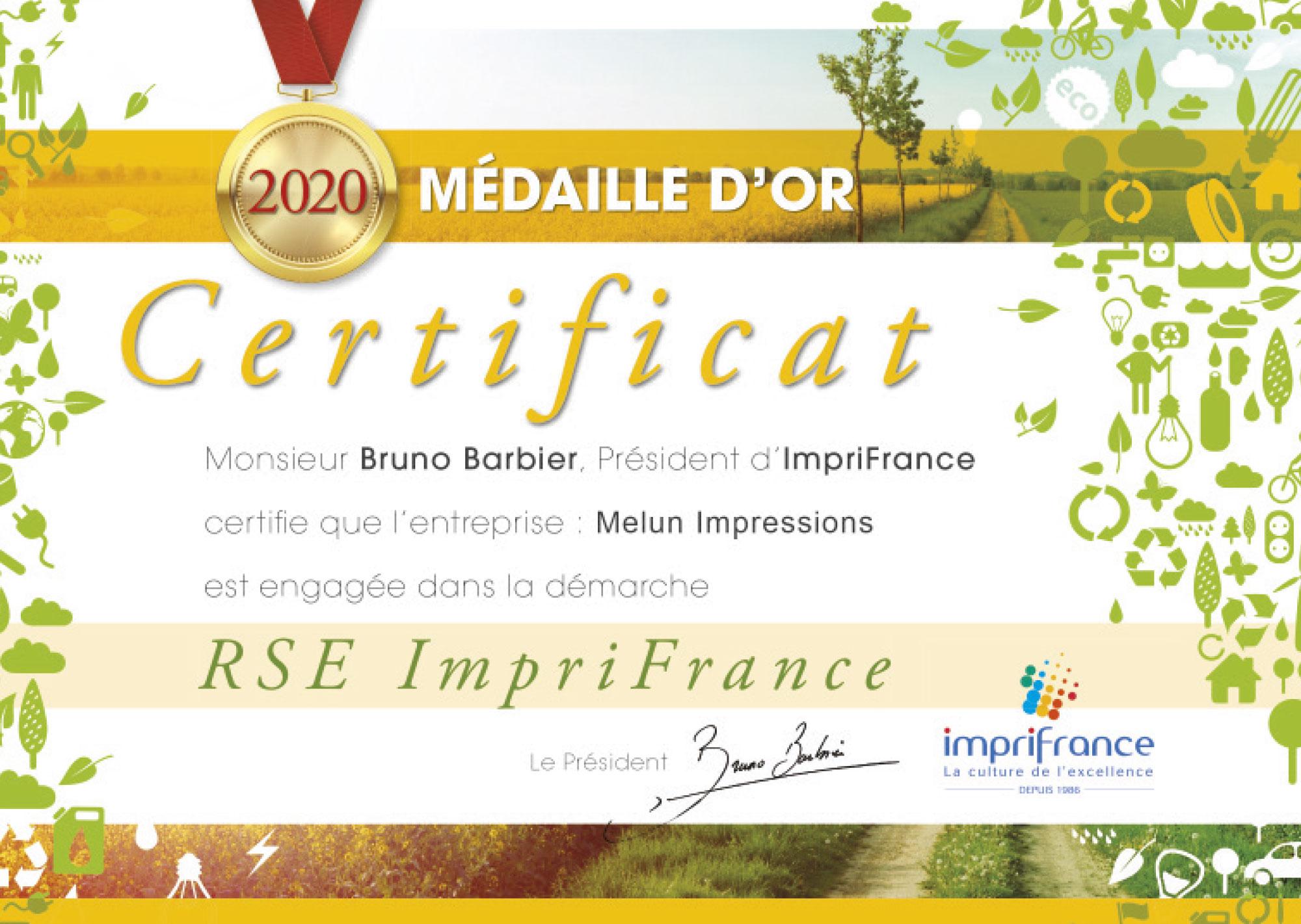 Nous sommes certifiés RSE 2020